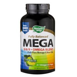 MEGA 3/6/9 Combinación Omega 90 Soft Gels marca Nature´s Way